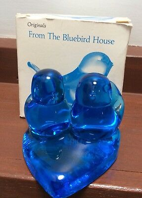 Bluebird Of Happiness By Terra Studios Signed Glass Ornament In Original Box