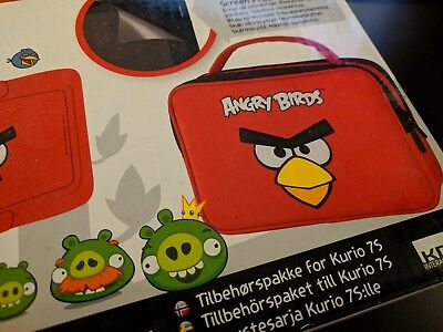 Kurio 7S Angry Birds Skin Bumper Travel Bag Screen Protector Accessory Pack Red
