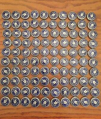 100 Blue Rolling Rock Beer Caps/Crowns - No Dents, Free Shipping