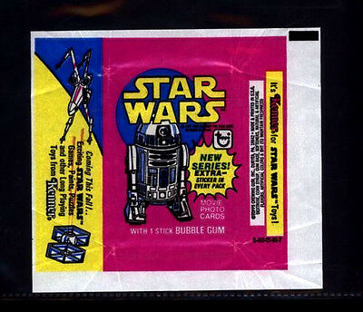 Star Wars Series 3 (YELLOW) - Card Wrapper - 1977 Topps - No Tears / RIPS