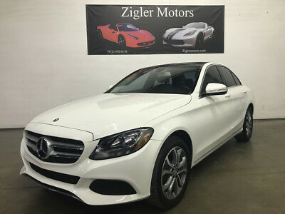 2015 Mercedes-Benz C-Class 4Matic Sedan 4-Door 2015 Mercedes C300 4Matic Polar White,Pano Roof,Att Assist