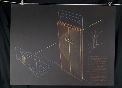 Original 1958 Pastel Concept Drawing Studio Proposal for Ford Edsel Signed Dated