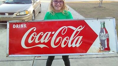 Coca Cola Sign Dated 1949 Drink Coca Cola Robertson & C.O WOW! Extremely Rare