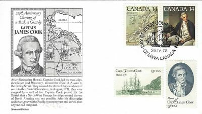 1978 #763-4 Captain Cook Joint Issue FDC with Aristocat cachet unaddressed #2