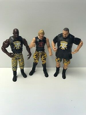 The Dudley Boys WWE Figures Bubba Ray, Dvon Dudley & Spike Dudly Figures