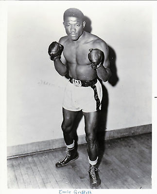 EMILY GRIFFITH 8X10 Photo BOXING BLACK AND WHITE PICTURE 4 LOT