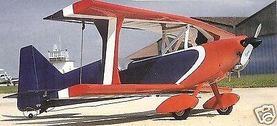 """Model Airplane Plans (RC): Ultimate 100-300 Winner 37"""" Biplane for .26-40 & 4-ch"""