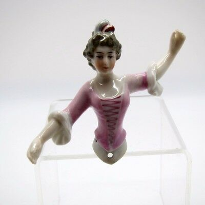 Antique Half Doll Outstretched Arm, Dressel and Kister, Beautiful in Pink!