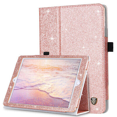 For iPad Mini 1 2 3 Smart Cover Folio Stand PU Leather Glitter Bling Case Cover