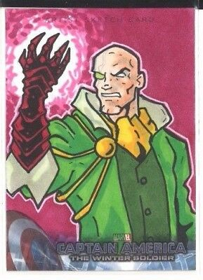2014 UD Captain America The Winter Soldier James Riot Artist Sketch Card 1 of 1