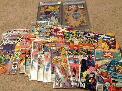X-Factor LOT including #6 and #24 CGC certified 9.0 and many others