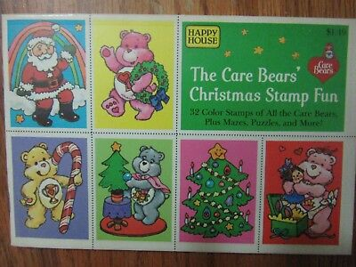 Vintage 1985 The Care Bears Christmas Stamp Fun.Happy House .