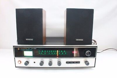 KENWOOD KR-2120, AM/FM stereo receiver with speakers. (ref A288)