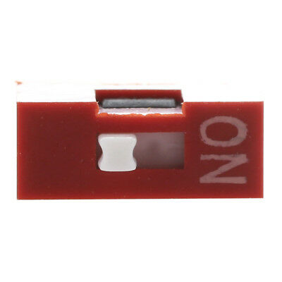 20 Pcs 7.62mm Pitch 1 Position 2 Pin Red DIP Switch 1P TP