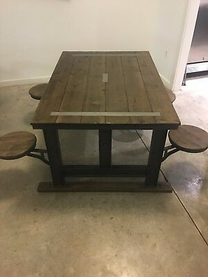 Galvin Cafeteria Table - business table - kitchen table wooden