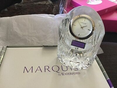 MARQUIS by WATERFORD CRYSTAL CAPRICE CLOCK NWT Unwanted gift
