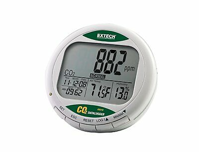 Desktop Indoor Air Quality CO2 Monitor Humidity Temp Automatic 0 - 9999ppm