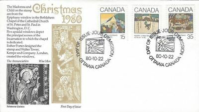 1980 Christmas #870-2 Greeting Cards FDC with Aristocrat cachet