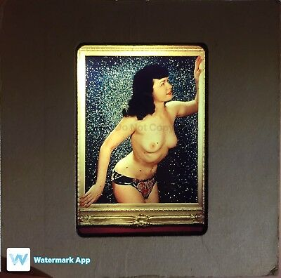 Vintage 1950's Risqué Nude Bettie Page slide 35mm Transparency Stunning Figure