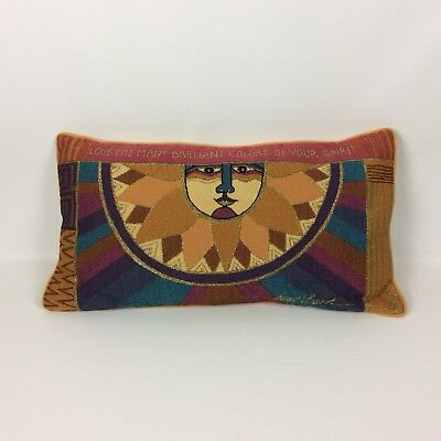 Laurel Burch Tapestry Pillow Sun Face Love The Brilliant Colors Of Your Spirit