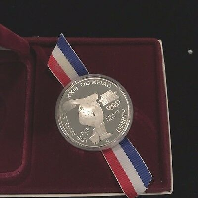United States Mint 1983 - 1984 L.A Olympic Silver Dollar Commemorative Coin