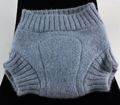 Diaper Soaker Cover Light Blue Gray Felted Wool Size Small