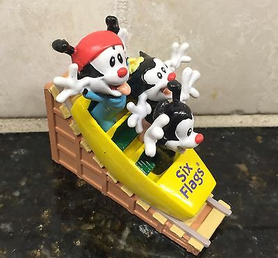 Warner Bros Six Flags Animaniacs PVC Six Flags Roller Coaster  Dot Wakko Yakko