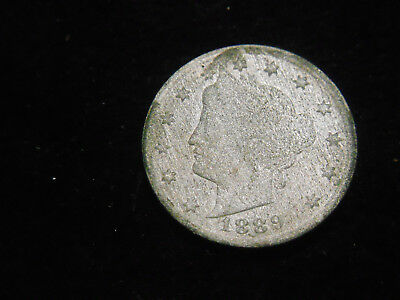 1883 WITH CENTS AND 1889 V LIBERTY nickel FREE SHIPPING  ACID TREATED