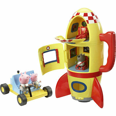 Peppa Pig Spaceship Explorer & Moon Buggy, Kids Play Set with Figures & Sounds