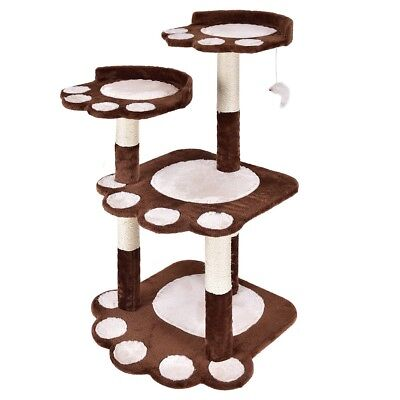 """42"""" Multi-level Paw Cat Play Tree Furniture House Condo Climb Scratching Post US"""