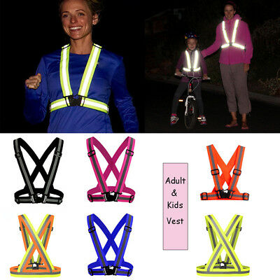 New Useful Kids Reflective Adjustable Safety High Visibility Vest Gear Stripes