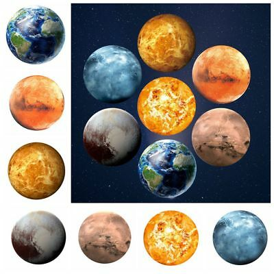 30CM 3D Luminous Planet Wall Sticker Glow In The Dark Fluorescent Moon Earth