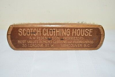 Antique Vancouver Canada Store Shoe Brush Store Advertising