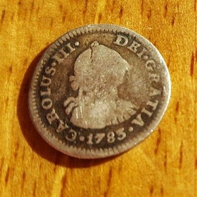 Half Reale King Charles III 1783 Mexico City Mint Silver