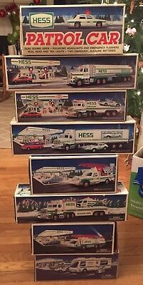 Lot of 8 New HESS TRUCKS 1990,1991,1992,1993,1994,1995,1996 and 1998