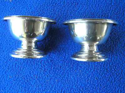 Pair of large heavy sterling silver salts 92g #1