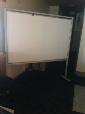 Mobile Double-Sided Whiteboard With Stand (Whiteboard Size: 179w x 117.5h)