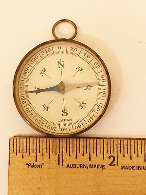 Vintage Compass - With Mirror On Back - Made In Japan Possibly Occupied Japan