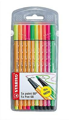 Fineliner / Premium-Filzstift STABILO® point 88® / Pen 68 Etui (Stabilo; #Fil...