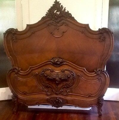 Stunning Antique French  Louis XV style double Bed