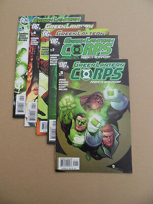 Green Lantern Corps :  Recharge 1 - 5 .Lot Complet . DC 2005 / 06 .