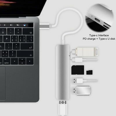 6-in-1 USB Type C Hub To HDMI Adapter Dock Dongle USB C Hub 3.0 Adapter Lot DS