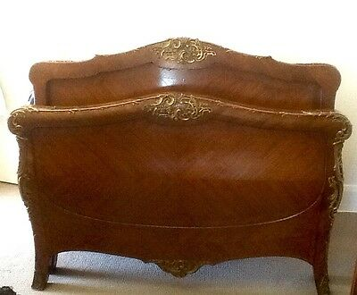 Rare Antique Exquisite French Louis Xv Style Kingwood Veneer And Bronze Mounted