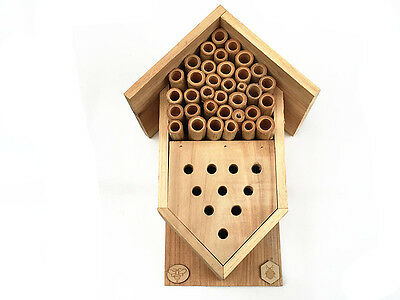 BAMBOO SOLITARY NATIVE BEE ,LADYBIRDS AND LACEWING INSECT HOTEL-Brand New