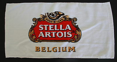 Stella Artois Belgium Beer 1-Sided Bar Pub Small Cotton Towel w Brand's Logo NEW