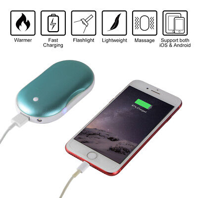 5000mAh Pocket Hand Warmer Electric Rechargeable Phone Power Bank Charger MT570