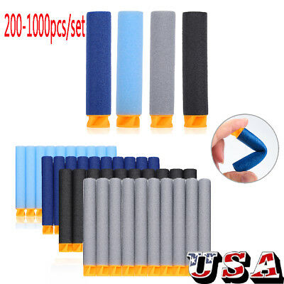 200-1000 PCS Refill Foam Darts for Nerf N-strike Elite Series Blasters Bullets