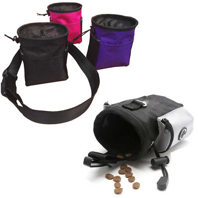 Dog Treat Pouch Food Bag Pet Drawstring Carries Training Waist Clip with Strap