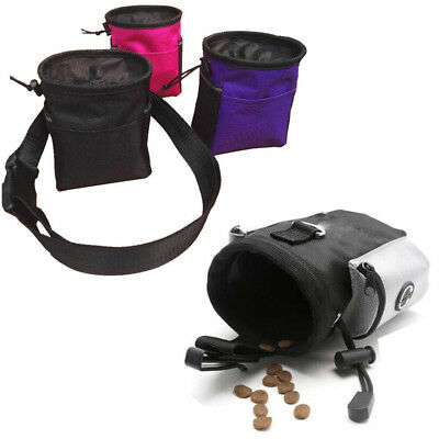 Dog Treat Pouch Food  Training Bag Pet Drawstring Carries Waist Clip with Strap