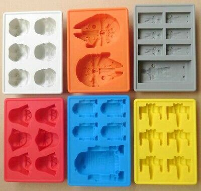 Silicone Star Wars Ice Maker Cube Tray Mold Cocktail Whiskey Chocolate Mould DIY